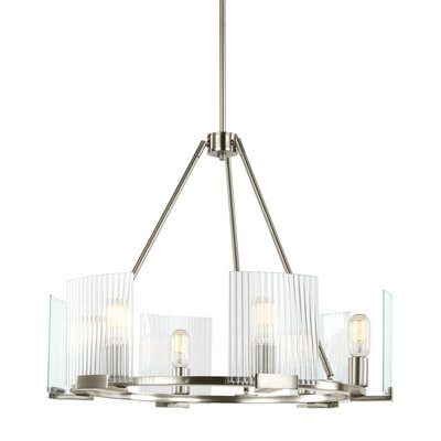 Sager 6-Light Candle-Style Chandelier