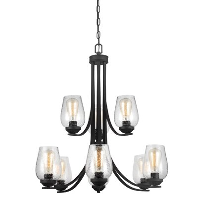 Morill 9-Light Shaded Chandelier