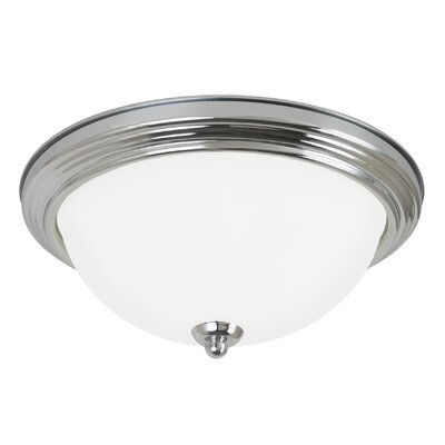 Jemuel 1-Light Flush Mount Finish: Chrome