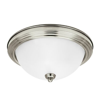 Jemuel 1-Light Flush Mount Finish: Brushed Nickel