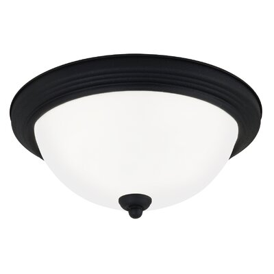 Jemuel 1-Light Flush Mount Finish: Blacksmith