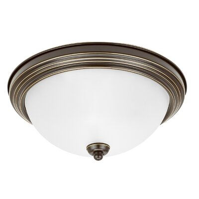 Jemuel 1-Light Flush Mount Finish: Heirloom Bronze