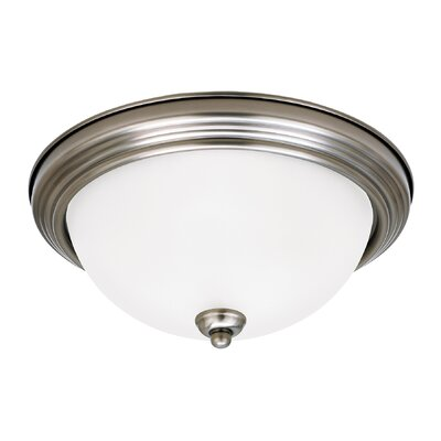 Jemuel 1-Light Flush Mount Finish: Antique Brushed Nickel