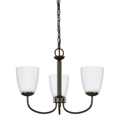 Bannock 75W 3-Light Mini Chandelier Finish: Heirloom Bronze