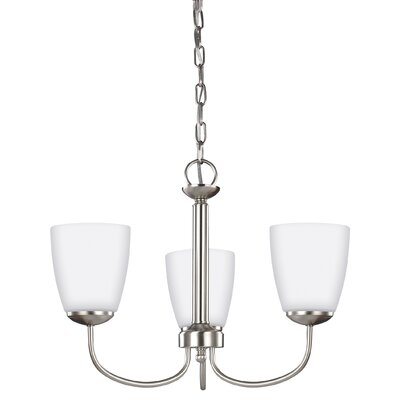 Bannock 3-Light Mini Chandelier Finish: Brushed Nickel