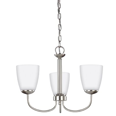 Bannock 75W 3-Light Mini Chandelier Finish: Brushed Nickel