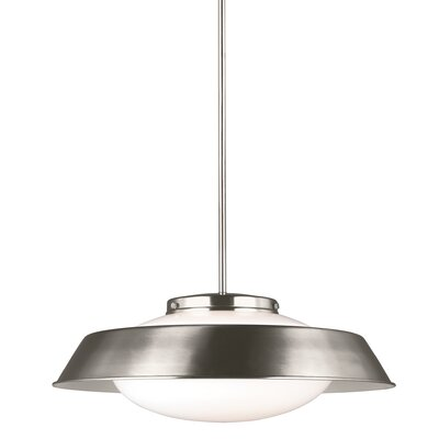 Sain Modern 2-Light Inverted Pendant Finish: Brushed Nickel