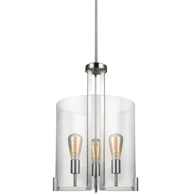 Leake 3-Light Foyer Pendant Finish: Brushed Nickel