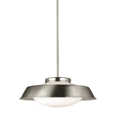 Sain Modern 1-Light Inverted Pendant Finish: Brushed Nickel