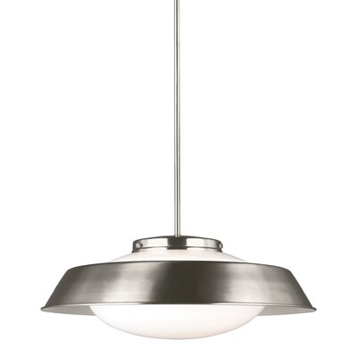 Sain 2-Light Inverted Pendant Finish: Brushed Nickel