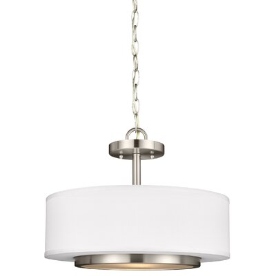 Nance 2-Light Drum Pendant Finish: Brushed Nickel