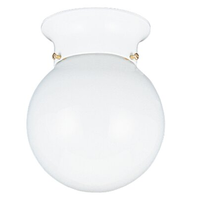 Barrientez 1-Light Flush Mount Base Finish: White