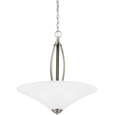 Irvona 3-Light Bowl Pendant Base Finish: Brushed Nickel