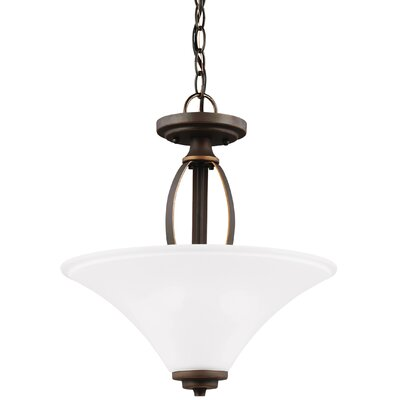 Irvona 2-Light Bowl Pendant Base Finish: Autumn Bronze