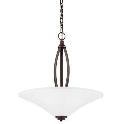 Irvona 3-Light Bowl Pendant Base Finish: Autumn Bronze