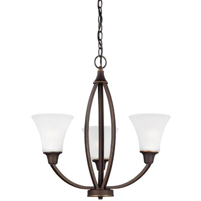 Irvona 3-Light Shaded Chandelier Finish: Autumn Bronze