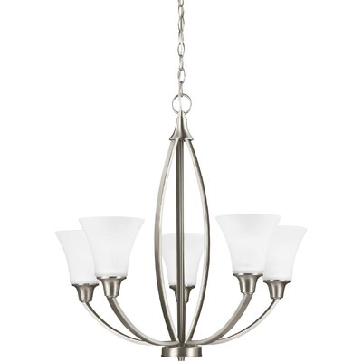 Irvona 5-Light Shaded Chandelier Finish: Brushed Nickel