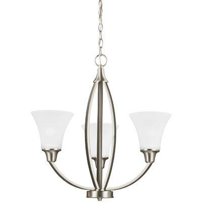 Irvona 3-Light Shaded Chandelier Finish: Brushed Nickel