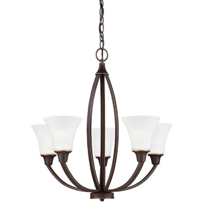 Irvona 5-Light Shaded Chandelier Finish: Autumn Bronze