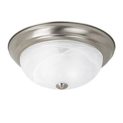 Brant 1-Light Flush Mount Finish: Brushed Nickel