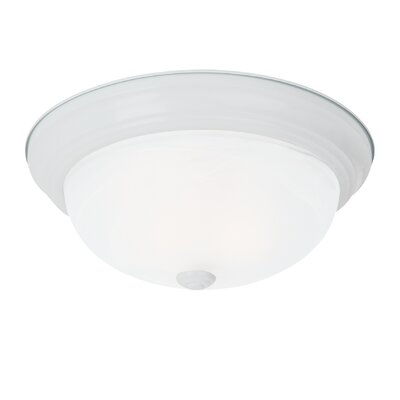 Akeeta 3-Light Flush Mount Finish: White