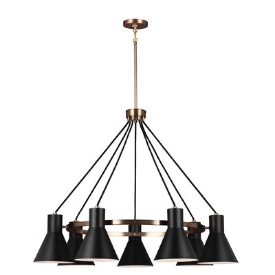 Towner 7-Light Shaded Chandelier Finish: Satin Bronze