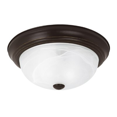 Brant 2-Light Flush Mount Finish: Heirloom Bronze