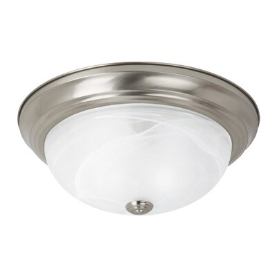 Brant 2-Light Flush Mount Finish: Brushed Nickel