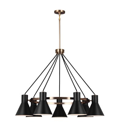 Alton 7-Light Shaded Chandelier Finish: Satin Bronze