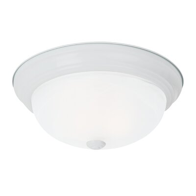 Brant 2-Light Flush Mount Finish: White