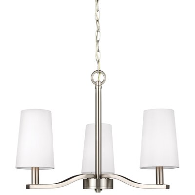 Nance 3-Light Shaded Chandelier Finish: Brushed Nickel