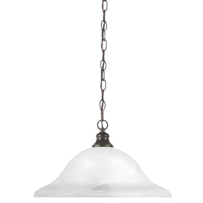 Windgate 1-Light Inverted Pendant Base Finish: Heirloom Bronze, Size: 9.5 H x 15.75 W x 15.75 D