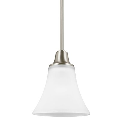 Irvona 1-Light Mini Pendant Base Finish: Brushed Nickel