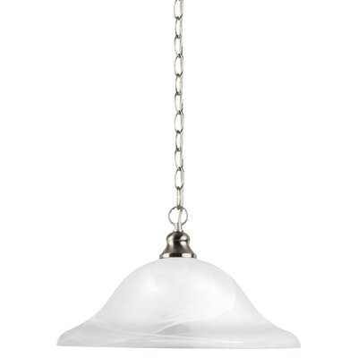 Brant 1-Light Inverted Pendant Base Finish: Brushed Nickel, Size: 9 H x 13.25 W x 13.25 D