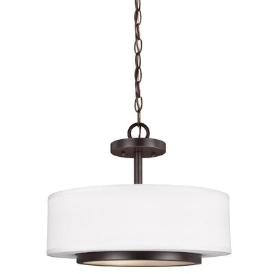 Brashears 2-Light Drum Pendant Finish: Heirloom Bronze