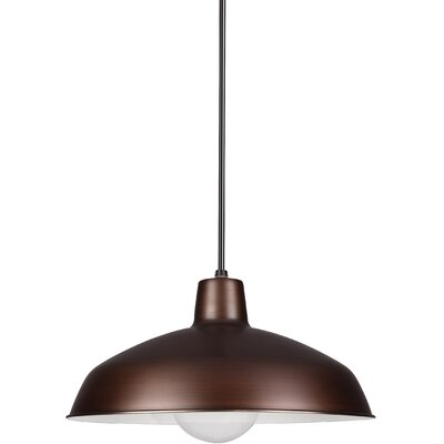 Manuela 1-Light Inverted Pendant Finish: Antique Brushed Copper