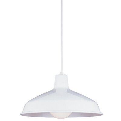 1-Light Inverted Pendant Finish: White