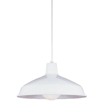 Manuela 1-Light Inverted Pendant Finish: White