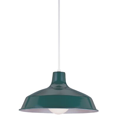 1-Light Inverted Pendant Finish: Emerald Green