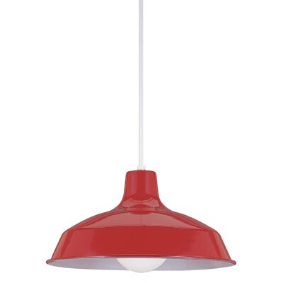 1-Light Inverted Pendant Finish: Red