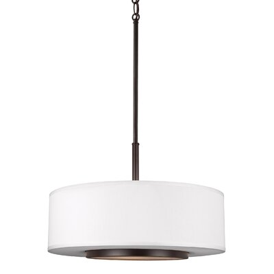 Nance 3-Light Drum Pendant Finish: Heirloom Bronze