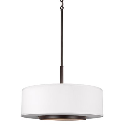 Brashears 100W 3-Light Drum Pendant Finish: Heirloom Bronze