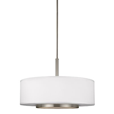Brashears 3-Light Drum Pendant Finish: Brushed Nickel