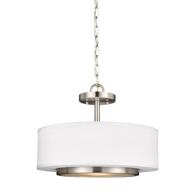 Brashears Modern 2-Light Drum Pendant Finish: Brushed Nickel
