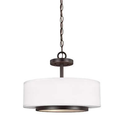 Brashears Modern 2-Light Drum Pendant Finish: Heirloom Bronze