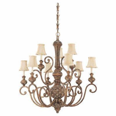 Beauford 9-Light Shaded Chandelier