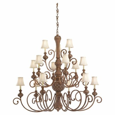 Beauford 15-Light Shaded Chandelier