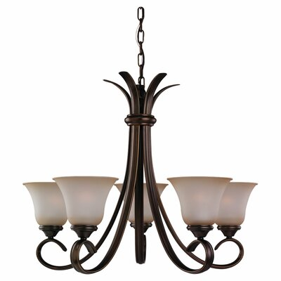 Hornellsville 5-Light Shaded Chandelier