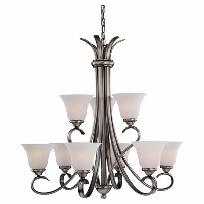 Hornellsville 9-Light Shaded Chandelier