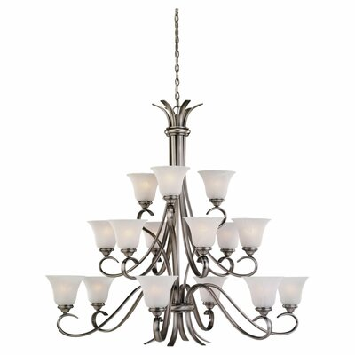 Hornellsville 15-Light Shaded Chandelier